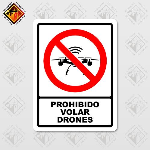 """Señal de """"PROHIBIDO VOLAR DRONES"""""""