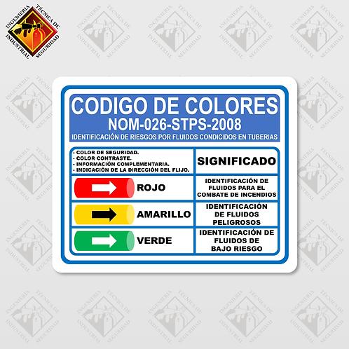 """Señal de """"CÓDIGO DE COLORES"""""""