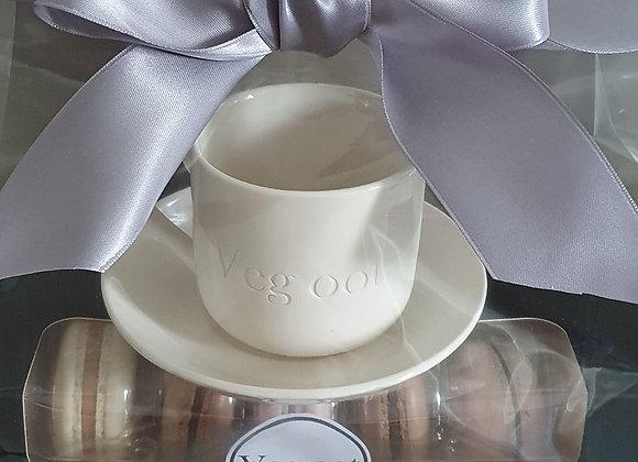 Espresso mug/macaron gift bag