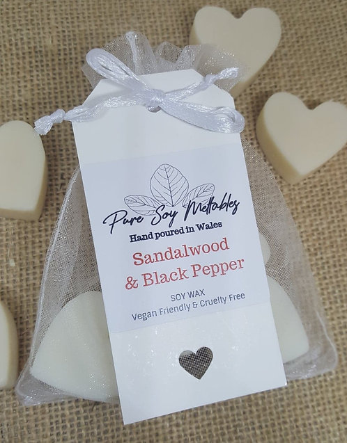 Sandalwood & Back Pepper Soy Wax Melts