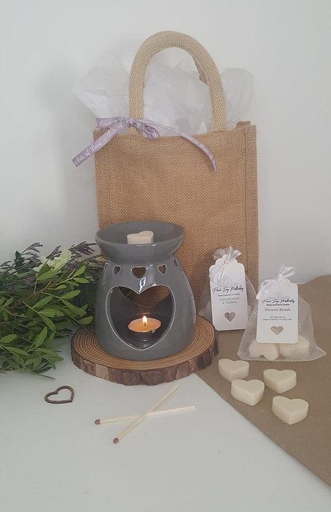 Grey Heart Burner  Gift Set