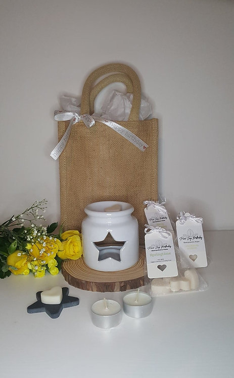 Stumpy White Star Burner Gift Set