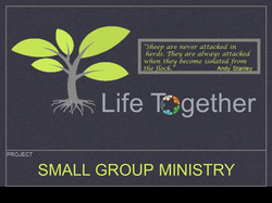 SMALL GROUP MINISTRY