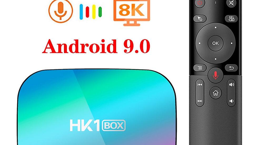 HK1 BOX Android 9.0 TV Box 8K 4GB 128GB Amlogic S905X3 1000M Dual Wifi 4K 60fps