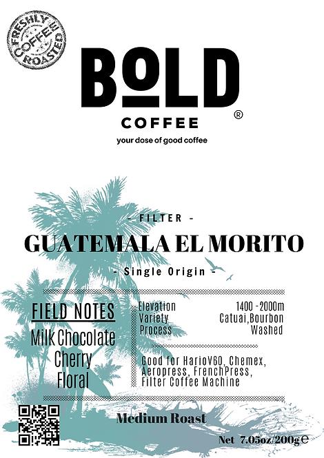 bold coffee guatemala el morito product label png