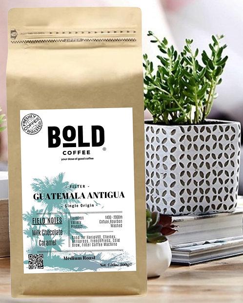 bold coffee guatemala antigua kraft kahve paketi görseli