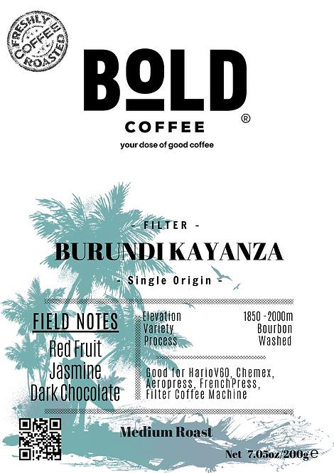 bold coffee burundi kayanza coffee product label png