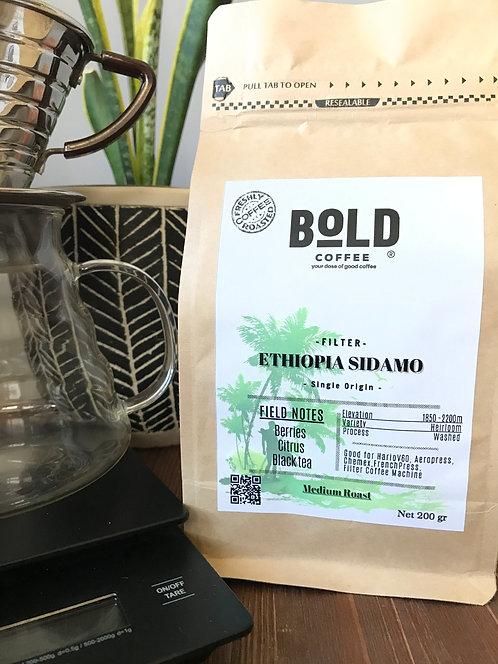 bold coffee ethiopia sidamo kraft kahve paketi görseli
