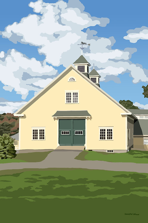 The Barn at Laudholm Farm - Wells, Maine - Graphic Art Print