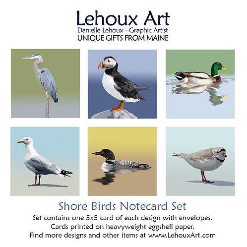 Shore Birds - Note Card Set