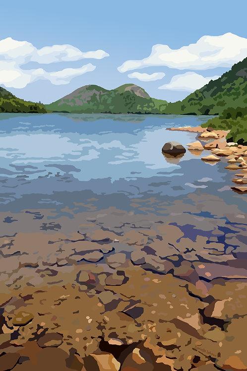 Jordan Pond - - Acadia National Park -Maine -  Graphic Art Print