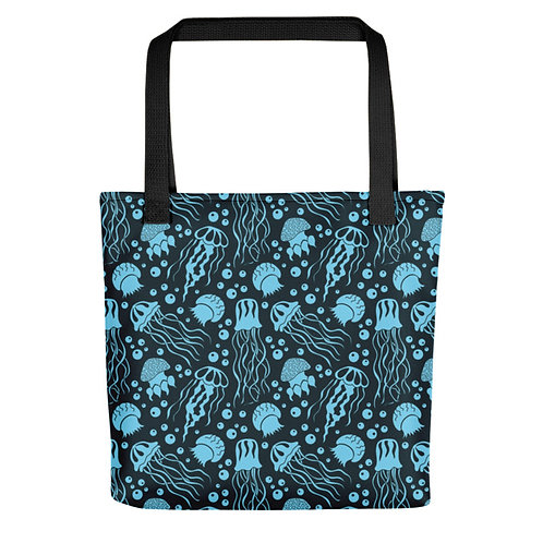 Jellyfish Patterned Tote Bag