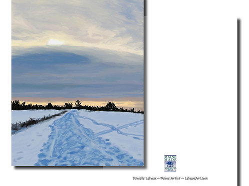 Winter Tracks - Maine Note Cards