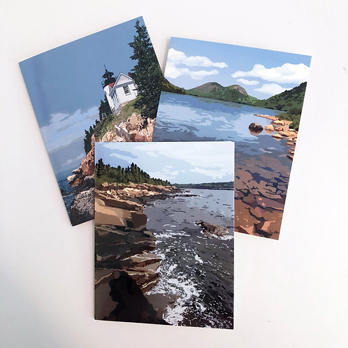 Scenes from Acadia - Blank Note Card Sets