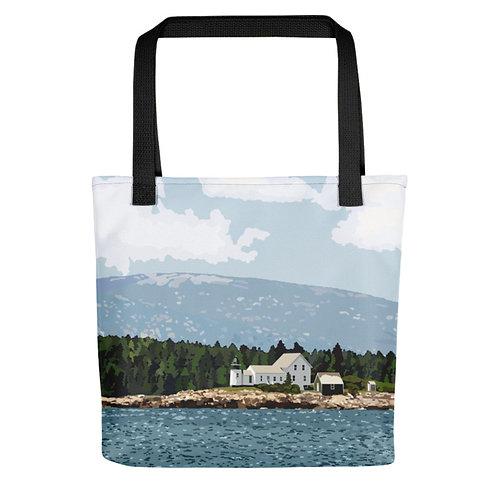 Winter Harbor Light - Maine Lighthouse Tote Bag