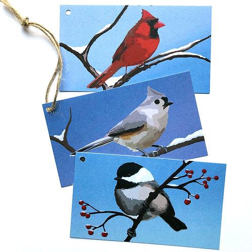 Bird Holiday Gift Tags