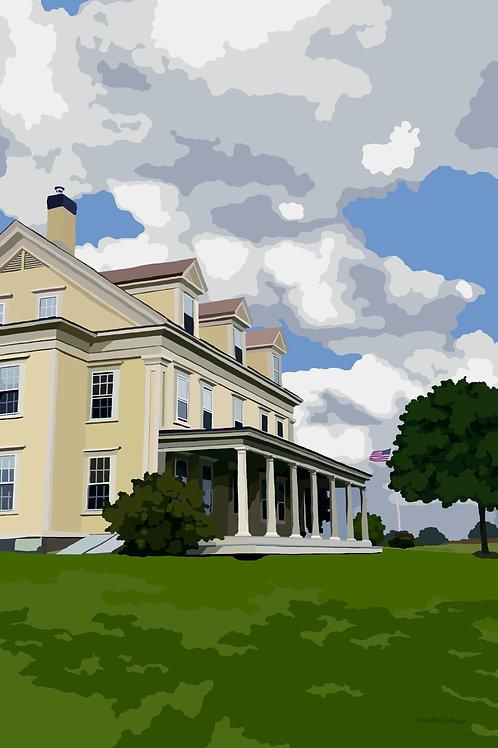 The Farmhouse at Laudholm Farm - Wells, Maine - Graphic Art Print