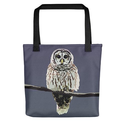 Barred Owl - Bird Art - Tote Bag