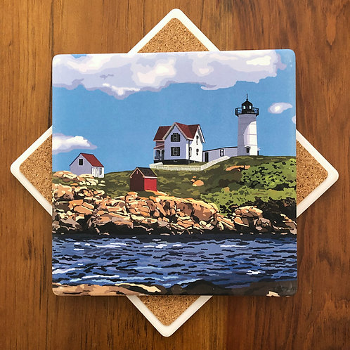 Nubble Light - Maine Lighthouse Trivet