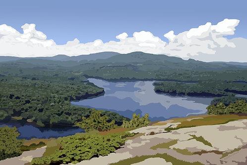 Megunticook Lake View - Maine Graphic Art Print