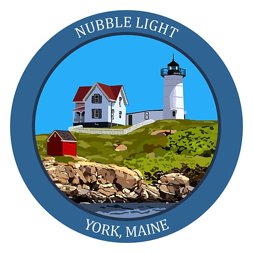 Nubble Light - Round Sticker