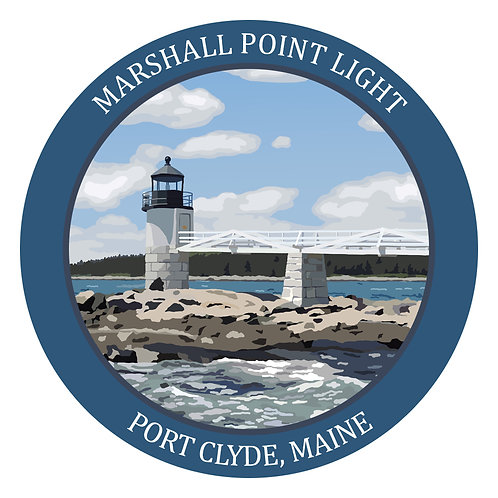 Round Marshall Point Light Sticker