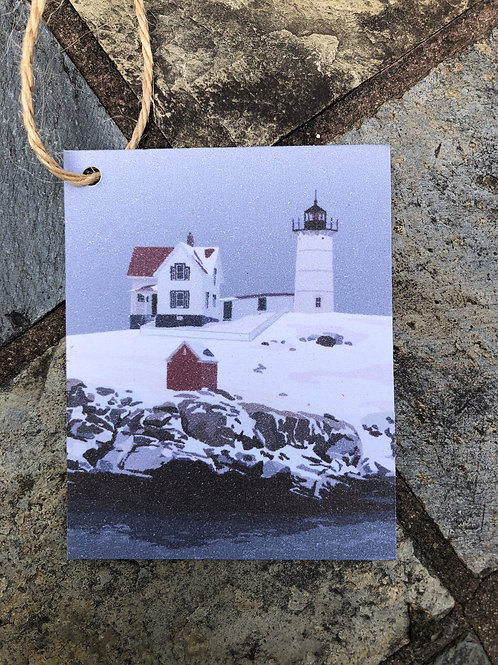 Nubble Light Holiday Gift Tags