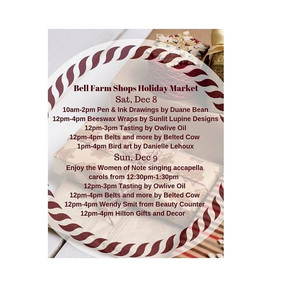 Upcoming Event: Bell Farm Shops Holiday Market