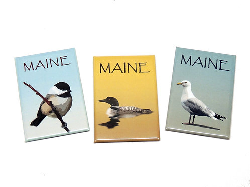 Maine Bird Magnets