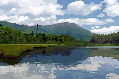 Mount Katahdin - Baxter State Park - Maine - Graphic Art Print