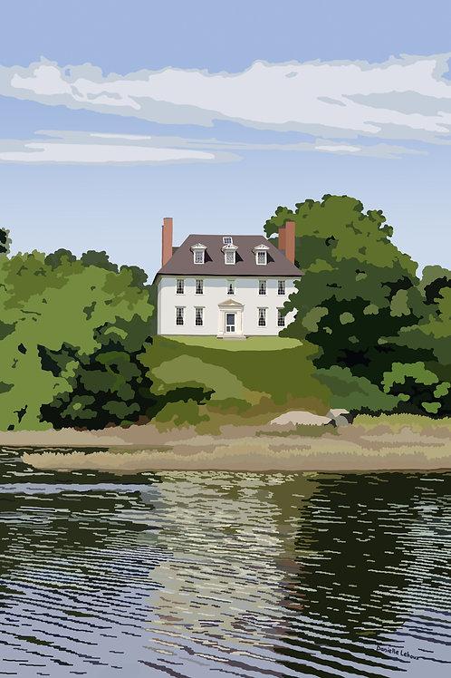 Hamilton House- South Berwick, Maine - Graphic Art Print