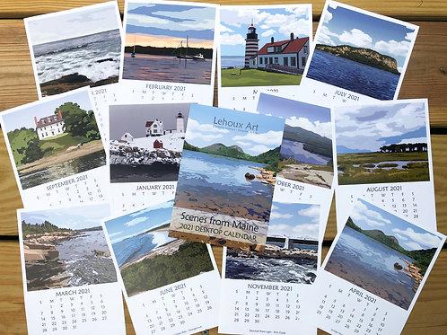2021 Scenes from Maine Desktop Calendar
