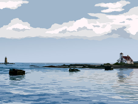 New Artwork: View From the Pier - Fort Foster