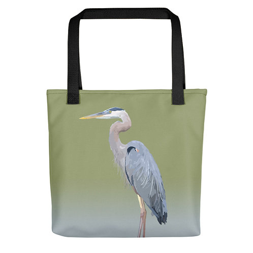 Great Blue Heron - Bird Art - Tote Bag