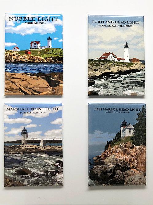 Acrylic Lighthouse Magnets