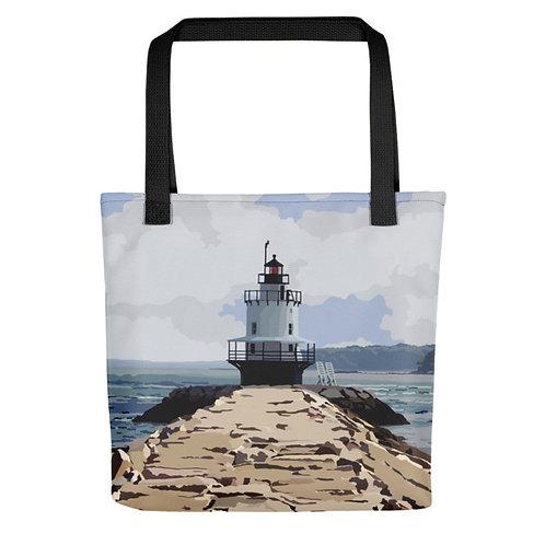Spring Point Ledge Light - Maine Lighthouse Tote Bag