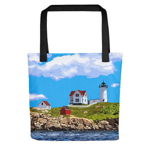 Nubble Light - Maine Lighthouse Tote Bag