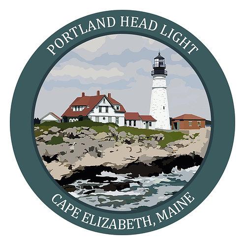 Round Portland Head Light Sticker