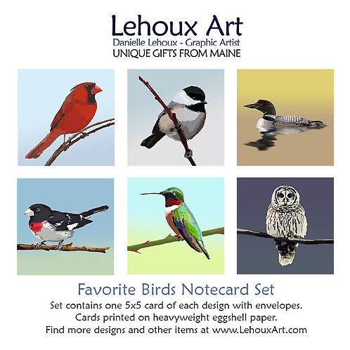 Favorite Birds - Note Card Set