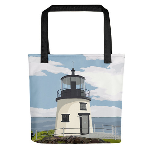 Owls Head Light - Maine Lighthouse Tote Bag