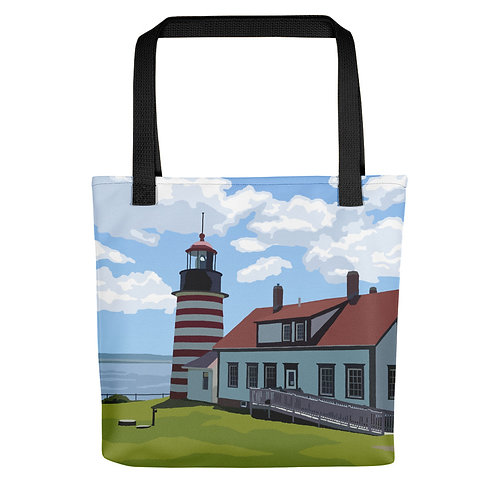 West Quoddy Head Light - Maine Lighthouse Tote Bag