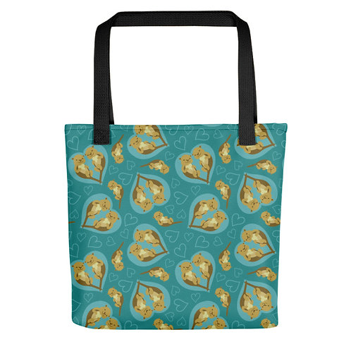 Sea Otter Patterned Tote Bag