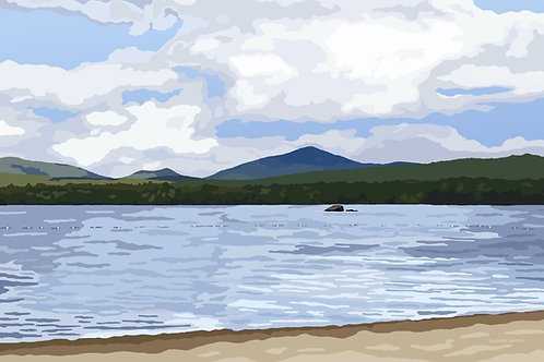 Mount Blue State Park - Maine - Graphic Art Print