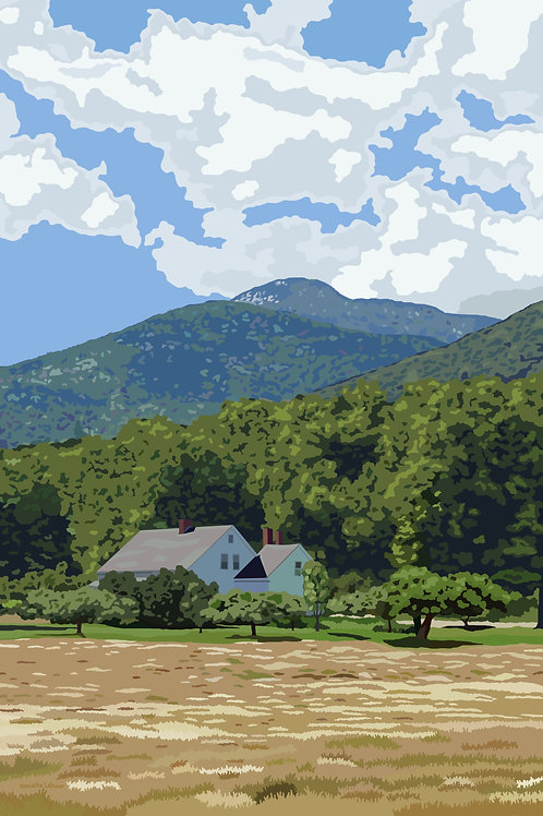 Mount Whiteface - NH -  Graphic Art Print
