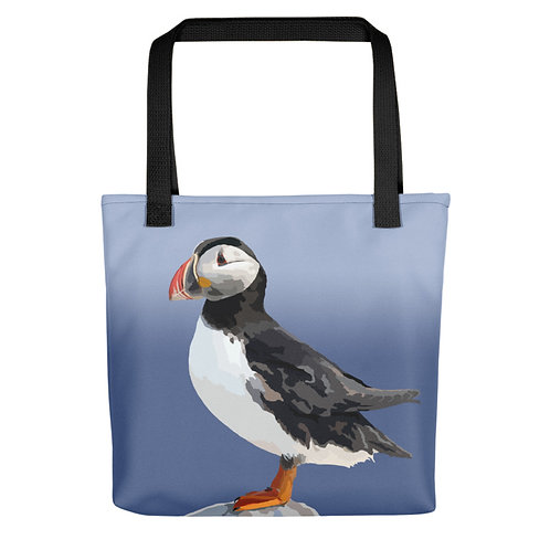 Atlantic Puffin - Bird Art - Tote Bag