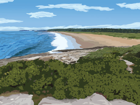 Reid State Park - a First for Maine