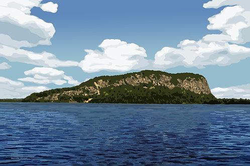Mount Kineo - Moosehead Lake - Maine - Graphic Art Print