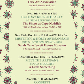 Upcoming Events:  Holiday Fairs & Open Houses!