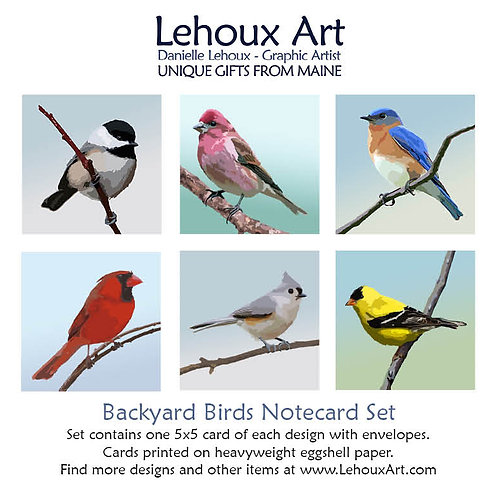 Backyard Birds - Note Card Set