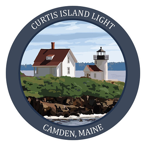 Curtis Island Light Vinyl Sticker